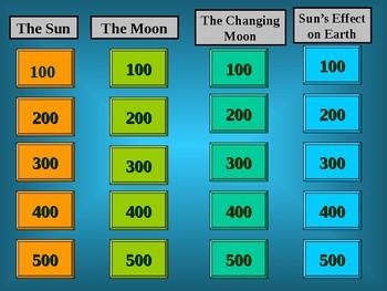Sun & Moon Jeopardy