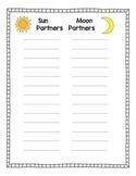 Sun & Moon List for Partner Work