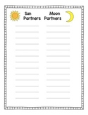 Sun & Moon List for Partner Work
