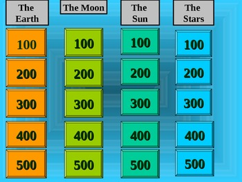Sun Moon Stars Jeopardy Game