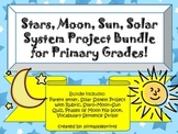 Solar System Project Bundle: Stars, Moon, Sun, Planets Model Primary Grades!