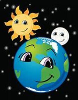 Sun,Moon and Earth