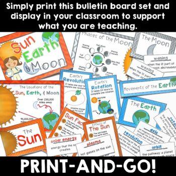Sun, Moon, and Earth:  Bulletin Board Set