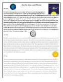 Sun, Moon, and Earth Comparison Venn Diagram