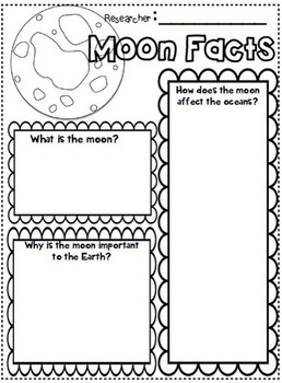 Sun Moon and Earth research writing