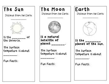 Sun, Moon, and Earth cut out foldable by susannahhb   TpT