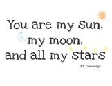 Sun, Moon, and Stars Printable