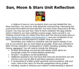 Sun, Moon and Stars Unit Reflection Project
