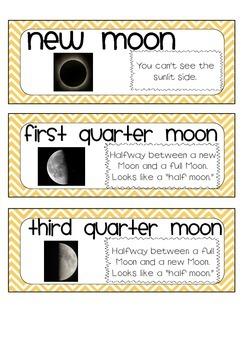 Sun, Moon, and Stars Vocabulary Bundle