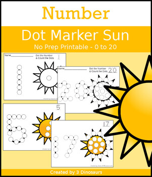 Sun Number Dot Marker & Counting