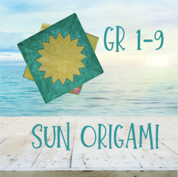 How to make a Paper Sun? Sun Origami for Kids. Crafts easy in 8 ...   350x349