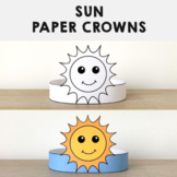 Sun Paper Crowns Headbands Printable Coloring Spring Summer Craft Activity