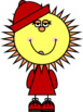 Sun People with a Hat Clip Art