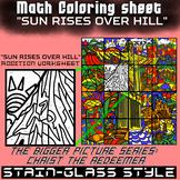 Math Colouring Worksheet (Addition) -Sunrise