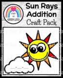 Spring, Summer Weather Activity: Sun Craft, Addition Math Activity for Centers