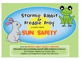 Sun Safety Reader w/Questions/Word Search{Stormie Rabbit and Freddie Frog}