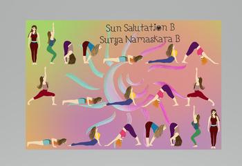 sun salutation b graphics onlyhead heart and art