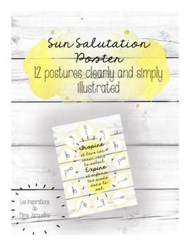 Sun Salutation Poster YOGA