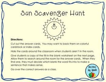 Sun Scavenger Hunt