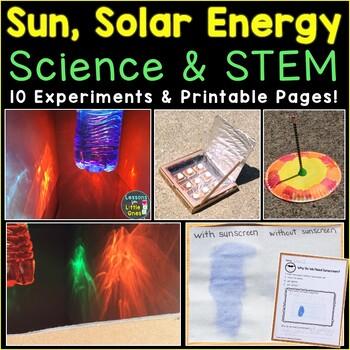 Sun Science Experiments & STEM Activities, Summer Science