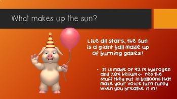 Sun Safety Lesson Slide Show Science Math Vocabulary Free Graphic Organizer star