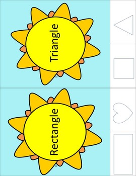 Sun Shape Puzzles and Clip Cards - Color and Black and White Combo Version