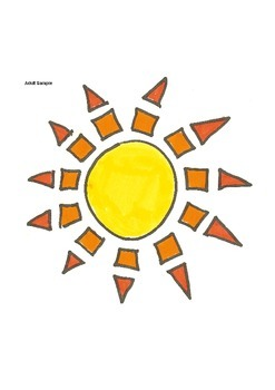 Elementary Visual Art Project - Sun Shapes