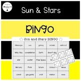 Sun & Stars-Science BINGO