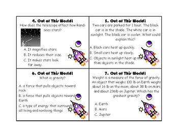 Sun, Stars, and Planets Task Cards