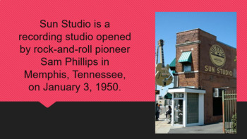 Sun Studio and Stax Records: The Significance of Tennessee in Music Powerpoint