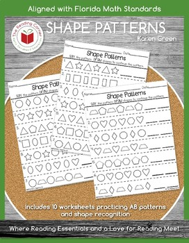 Pattern Shapes - Addition Practice through 20 - $$DOLLAR DEAL$$