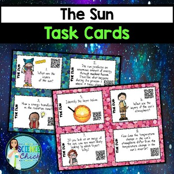 Sun Task Cards - with or without QR codes