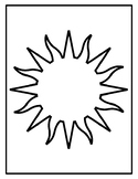 Sun Templates for Art Project Sun Coloring Pages Sun Outlines Sun Sheets