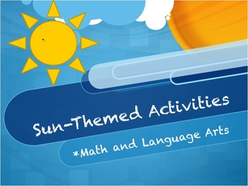 NO PREP-Sun Themed Activities for End-of-Year/Beginning of Year
