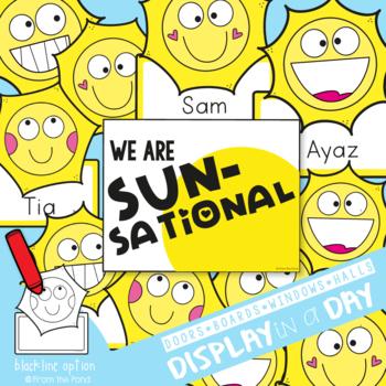 Sun Themed Bulletin Board or Door Decoration Set