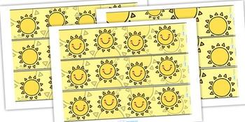 Sun Themed Display Borders
