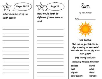Sun Trifold - Imagine It 3rd Grade Unit 4 Week 1