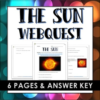 Sun - Webquest and Answer Key