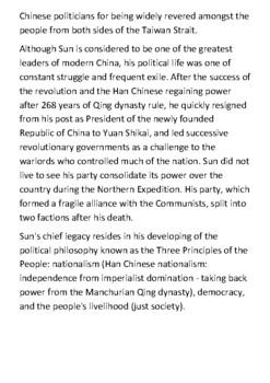 Sun Yat-sen Handout