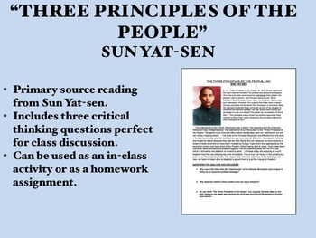 """Three Principles of the People"" - Sun Yat-sen - China - Global/World History"