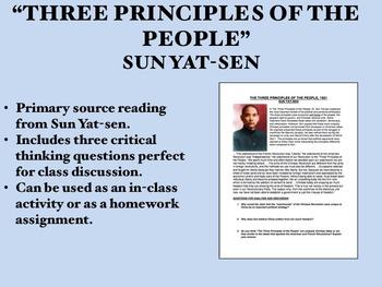 """Three Principles of the People"" - Sun Yat-sen - China - G"