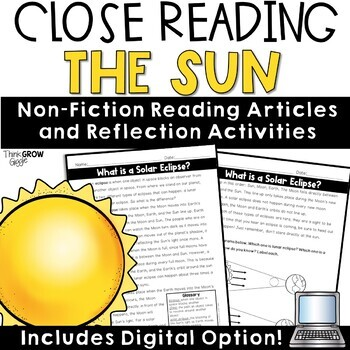 Sun and Eclipse Nonfiction Close Reading