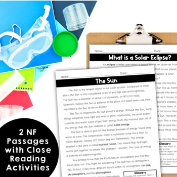 Reading Comprehension Passages and Questions Solar Eclipse Close Reading
