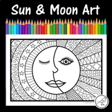 Sun and Moon Art