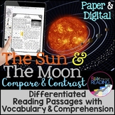 Sun and Moon Compare & Contrast Differentiated Reading Pas