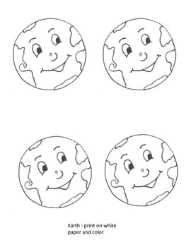 Sun and Moon Craft plus Writing Template (Solar System)
