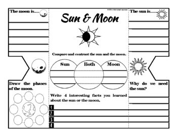 Sun and Moon Foldable Interactive Notebook