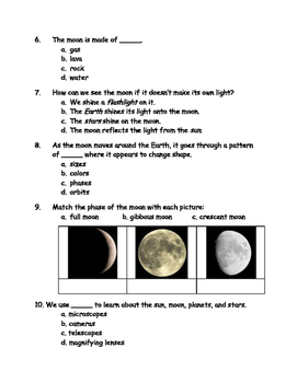 Sun and Moon Quizzes (set of 3)