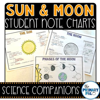 Sun and Moon Student Note Taking Charts