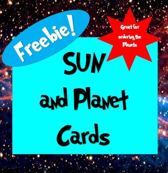 Sun and Planet Cards